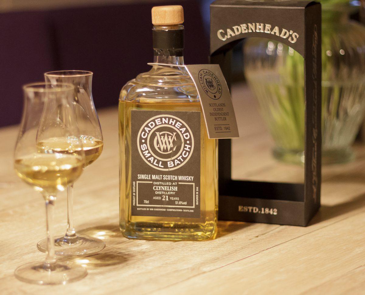 Clynelish Small Batch von Cadenhead im Glas und in der Flasche