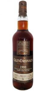 Eine Flasche Glendronach 1993 aus Fass 394