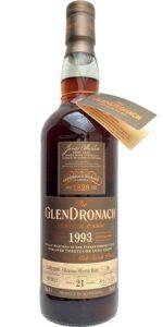 Eine Flasche Glendronach 1993 aus Fass 38